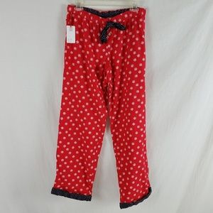 Aerie Pajama Pants NEW Flannel Snowflake Red White